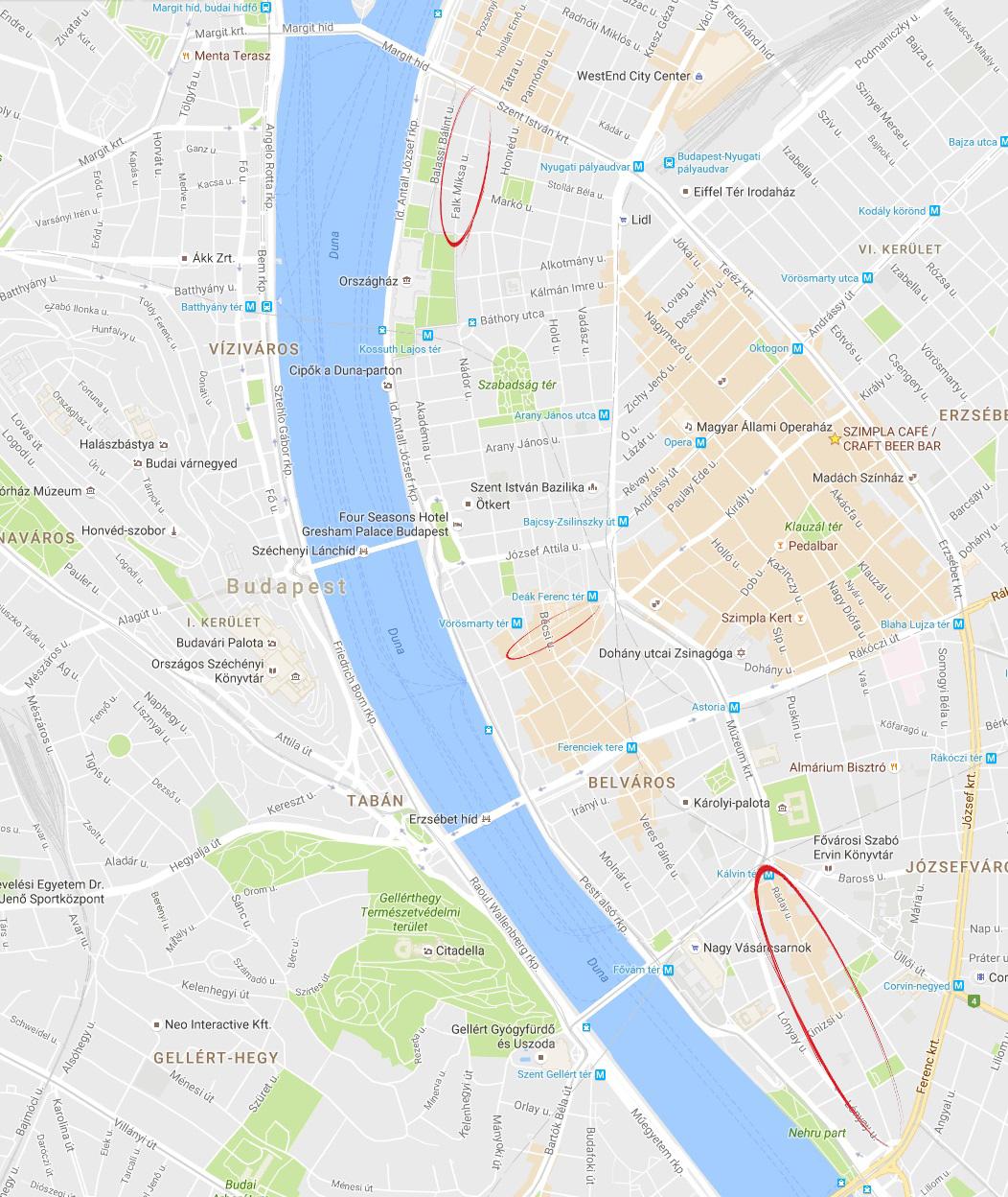budapest hamburger térkép BudNews   Thematic walking streets of Budapest budapest hamburger térkép